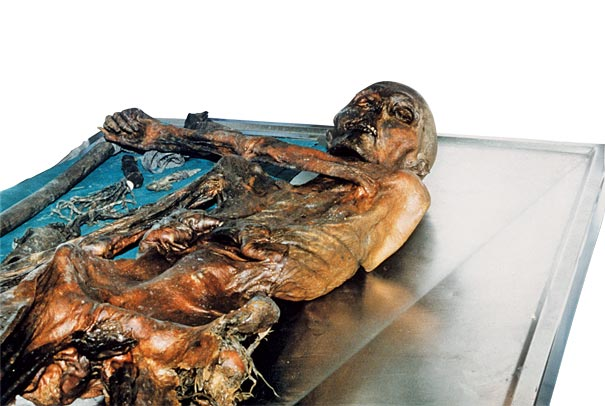 The mummy was named after the Otzal Alps. Image: South Tyrol Museum of Archaeology