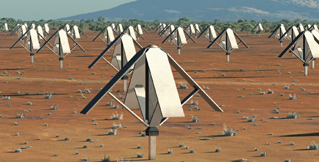 "Square Kilometre array, The SKA telescope is so huge that it will ""span"" five continents."